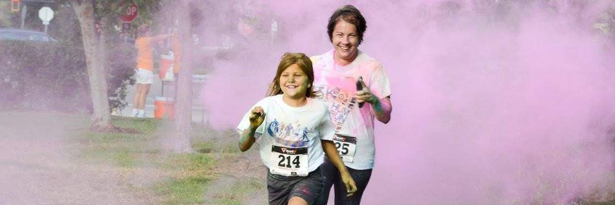 The Volusia Flagler Family YMCA Colorific  5K Banner Image