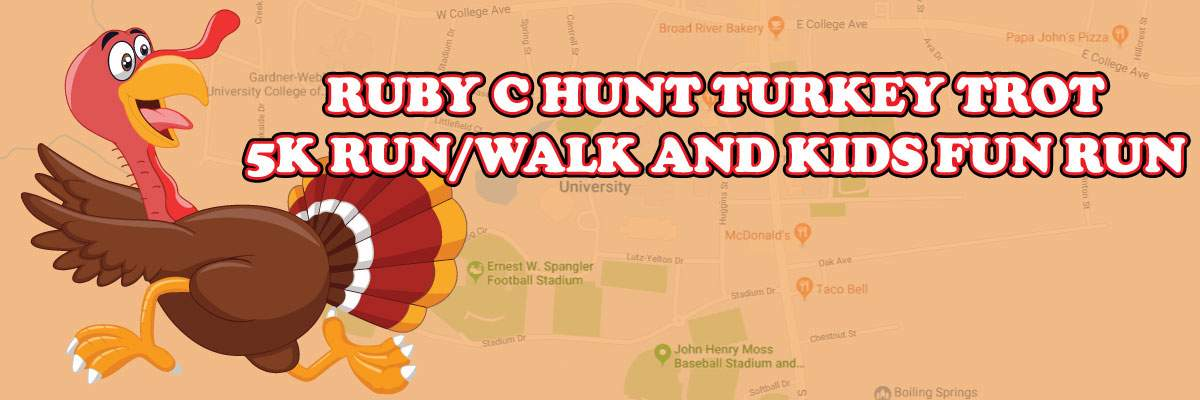 Ruby C. Hunt Turkey Trot 5K and Fun Run Banner Image