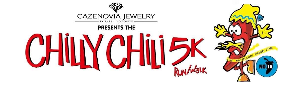 15th Annual Cazenovia Jewelry Chilly Chili 5K Banner Image