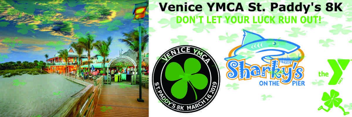 Venice YMCA St. Paddy's 8K Banner Image