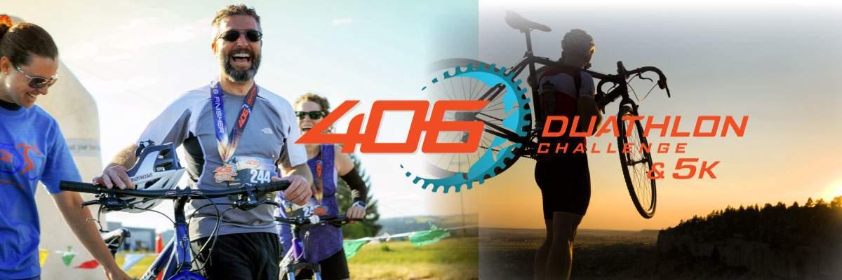 406 Duathlon Challenge, 5k and Kid's Dash & Pedal Festival Weekend Banner Image