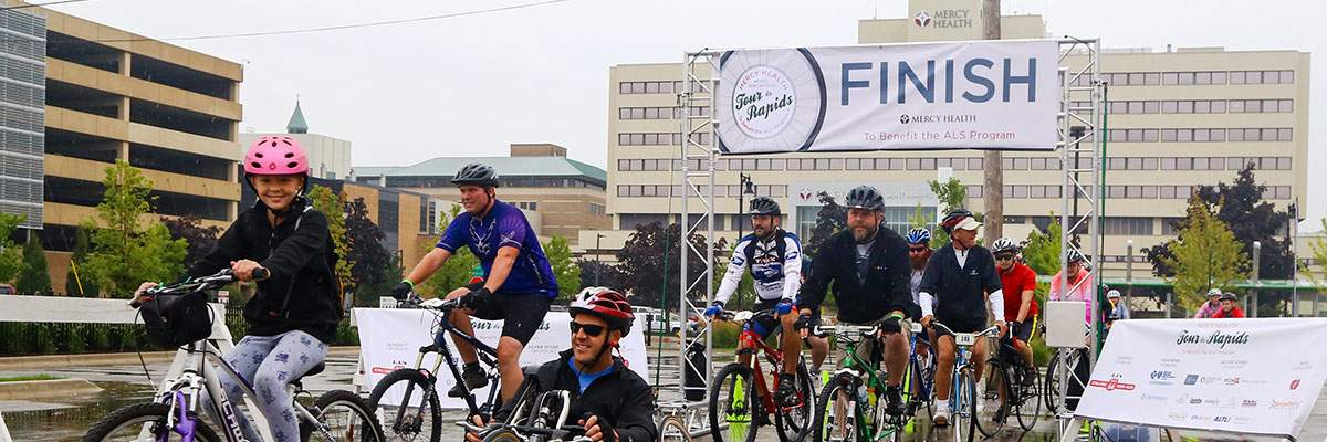 Mercy Health Tour de Rapids Banner Image