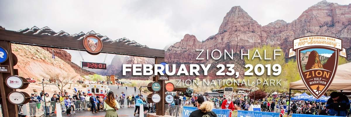 Zion Half Marathon Banner Image
