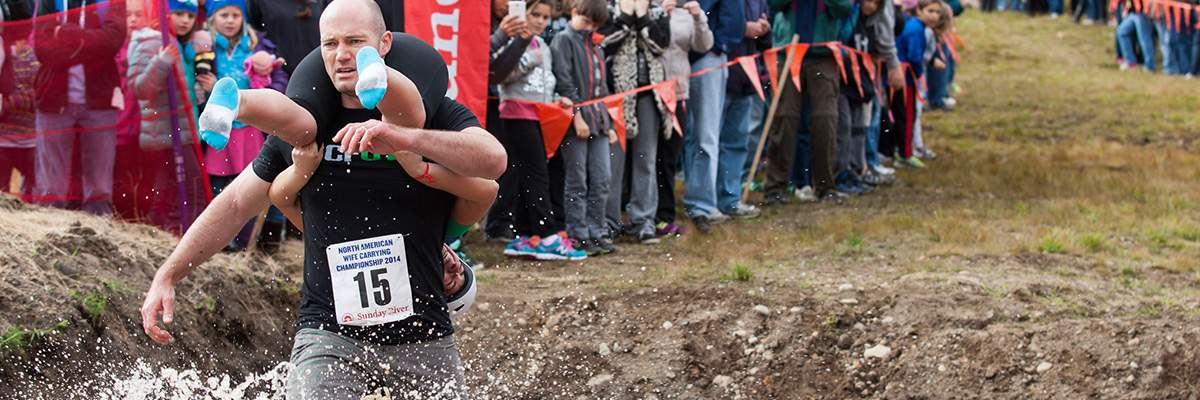 North American Wife Carrying Championship® Banner Image