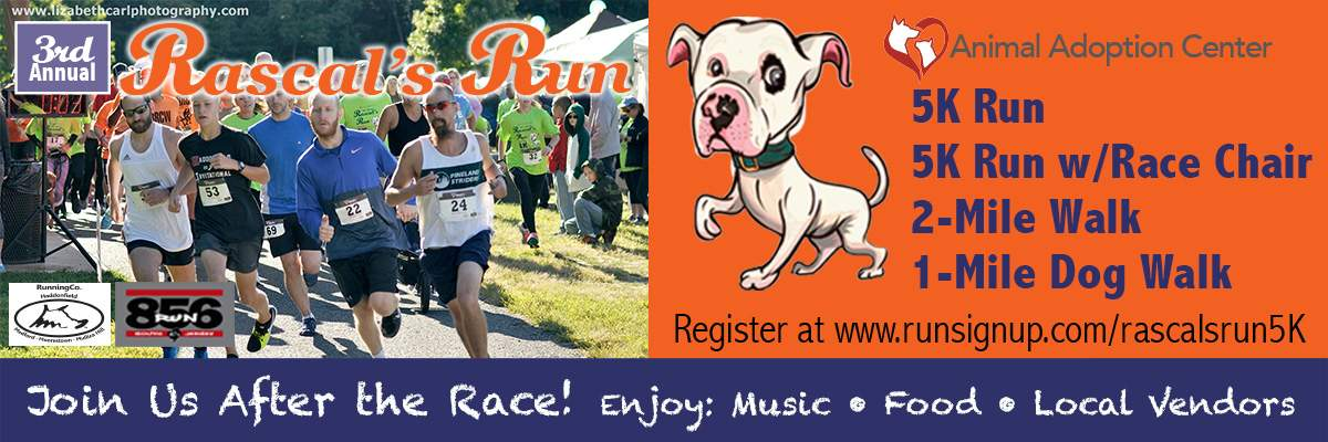 Rascal's Run 5k, 5K Race Chair, 2-mile Fun Walk & 1-mile Dog Walk - September 8, 2018 Banner Image