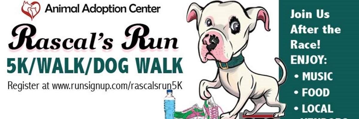 Rascal's Run 5k, 5K Race Chair, 2-mile Fun Walk & 1-mile Dog Walk - September 8, 2018 Banner Image