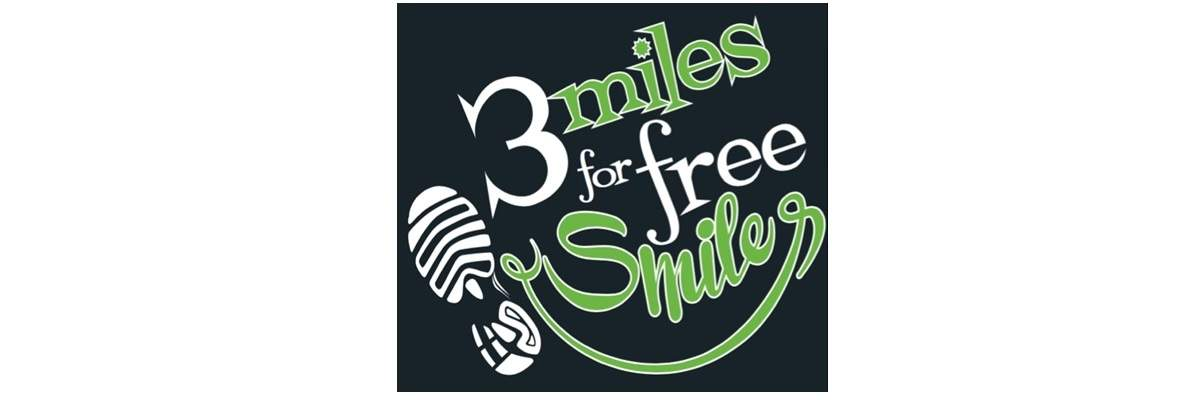 Three Miles for Free Smiles 5k Banner Image