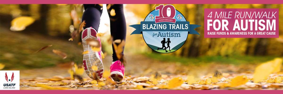 Blazing Trails 4 Mile Run/Walk for Autism Banner Image