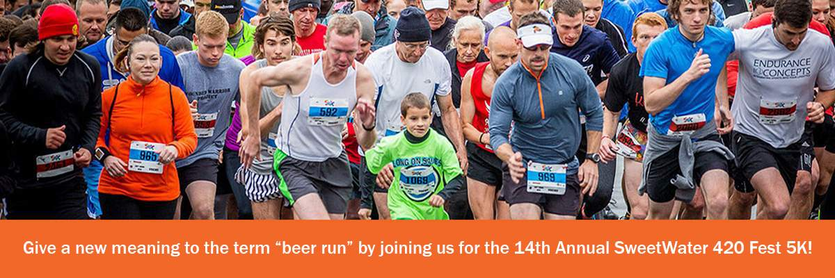 SweetWater 420 Fest 5K Road Race Banner Image