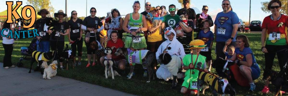 Costumed K9 Canter 1 Mile Fun Run and 5k Banner Image