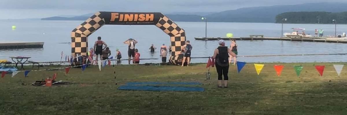 Goose Pond Island Half Iron Distance and Sprint Triathlons Banner Image