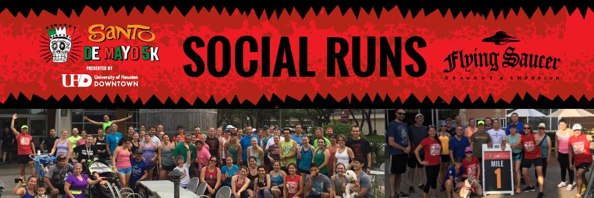 Santo de Mayo Social Run/Walk at Flying Saucer - March Banner Image
