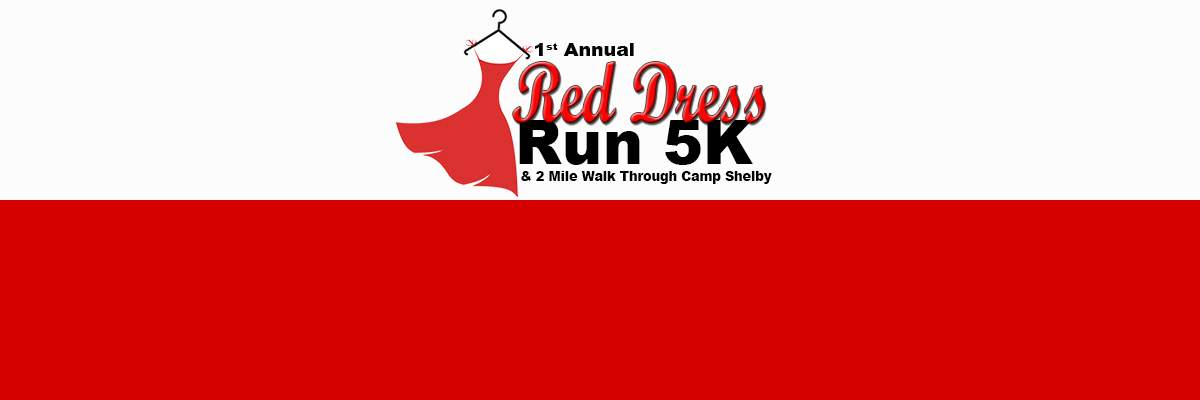 Red Dress Run Through Camp Shelby Banner Image