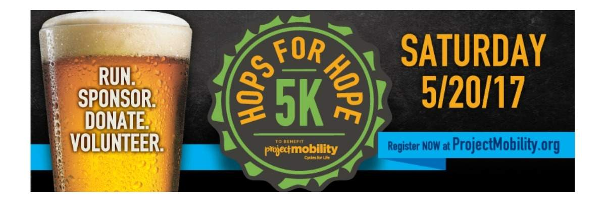 Hops for Hope 5K Banner Image