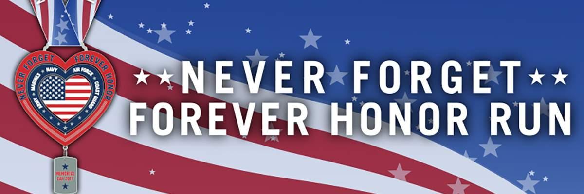 Never Forget Forever Honor Virtual Run 5k 10k Half Marathon