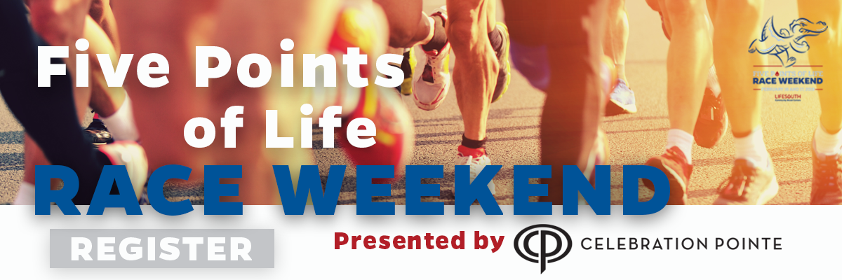 Five Points of Life Race Weekend Banner Image