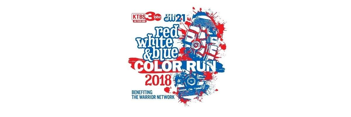 Red, White & Blue Color Run/Walk Banner Image