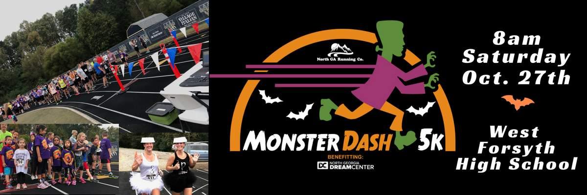 MONSTER DASH 5K & KIDS FUN RUN Banner Image