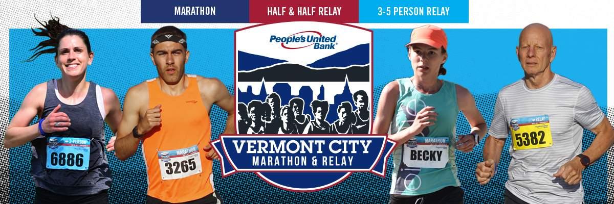 2018 People's United Bank Vermont City Marathon & Relay Banner Image