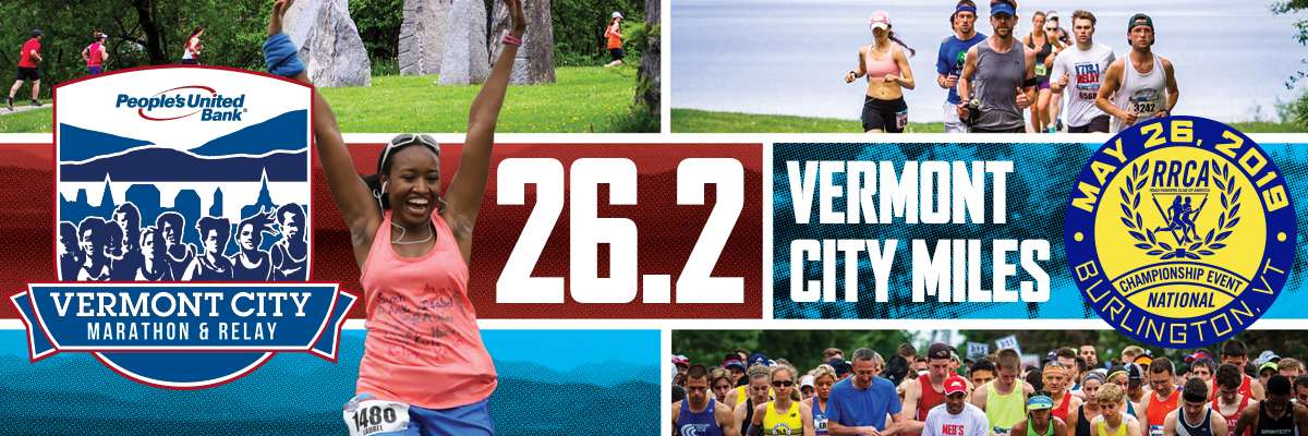 2019 People's United Bank Vermont City Marathon & Relay Banner Image
