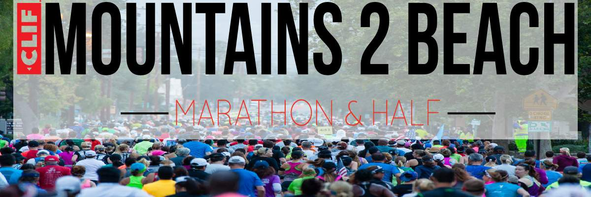 2019 Clif Bar Mountains 2 Beach Marathon and Half Banner Image