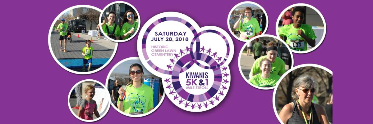 Kiwanis 5K Run and 1 Mile Stroll Banner Image