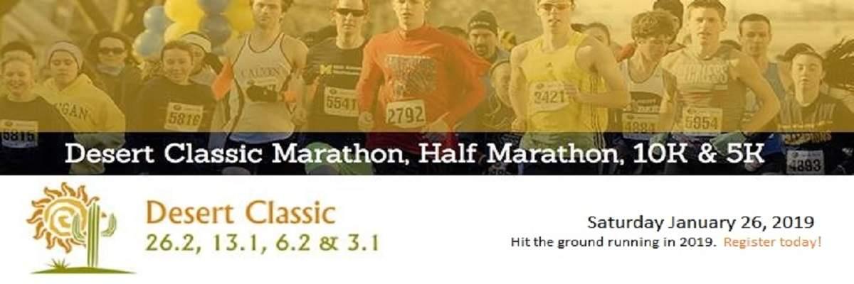 Desert Classic Marathon, Half Marathon, 10K & 5K Banner Image