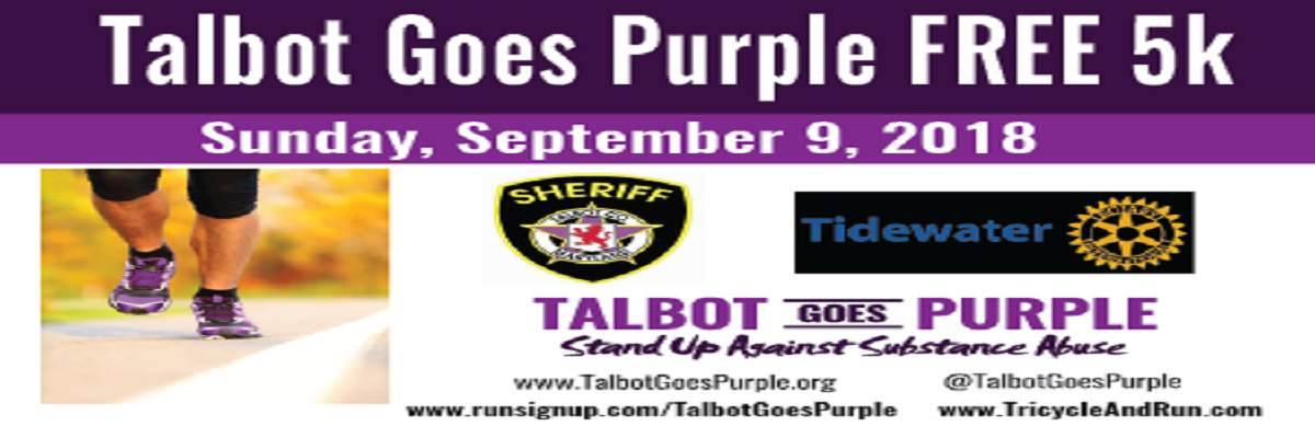 2nd Annual Talbot Goes Purple FREE 5K Banner Image