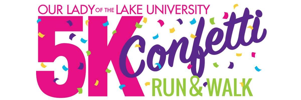 OLLU Confetti 5K Run/Walk Banner Image