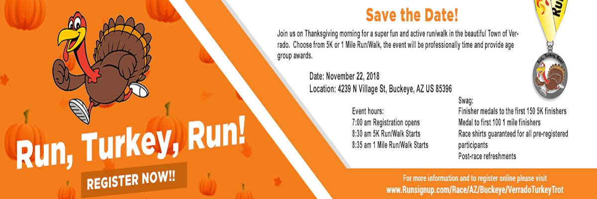 Run, Turkey, Run! 5K/1 Mile Banner Image