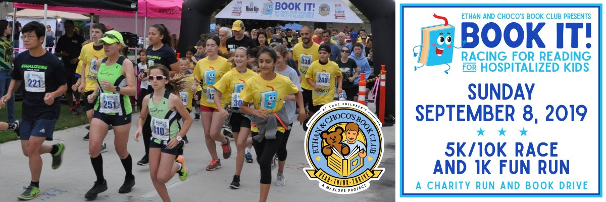BOOK IT! 5k/10k Run/Walk & 1K Fun Run Banner Image