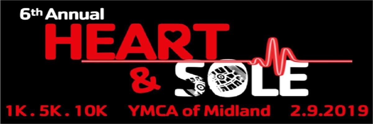 6th annual YMCA of Midland Heart & Sole 1.5.10K Banner Image