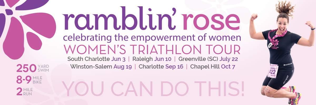 Ramblin Rose Women's Triathlon - Greenville (SC) Banner Image
