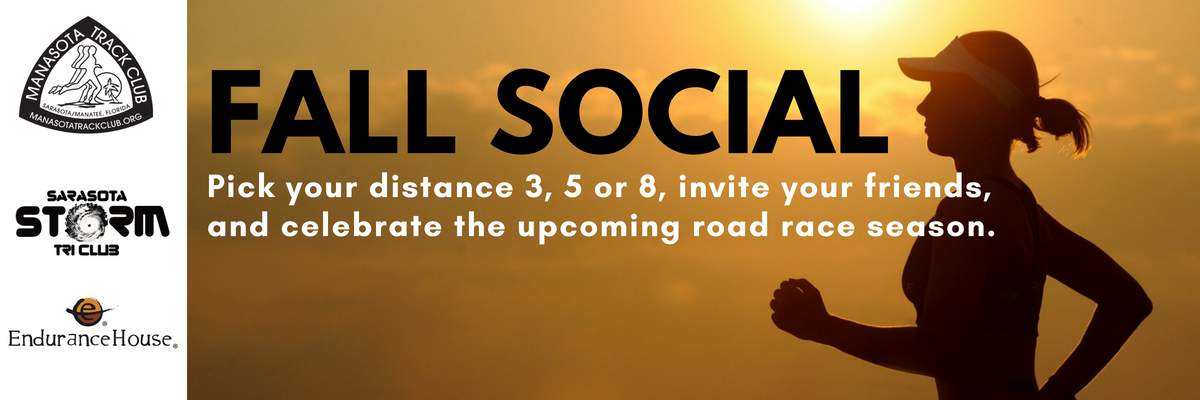 Manasota Track Club & Sarasota Storm Tri Club Fall Social Banner Image