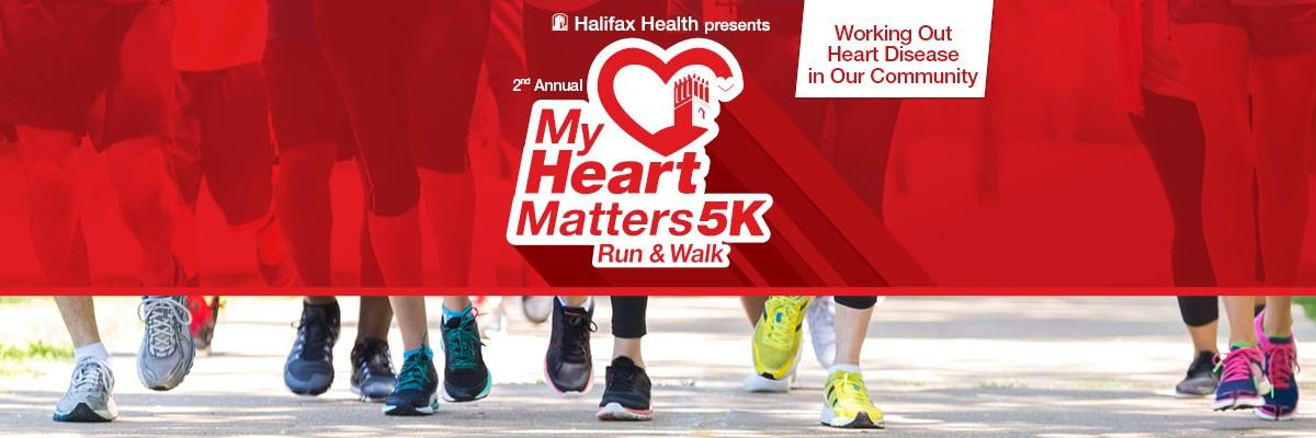 Halifax Health My Heart Matters 5K Run & Walk Banner Image