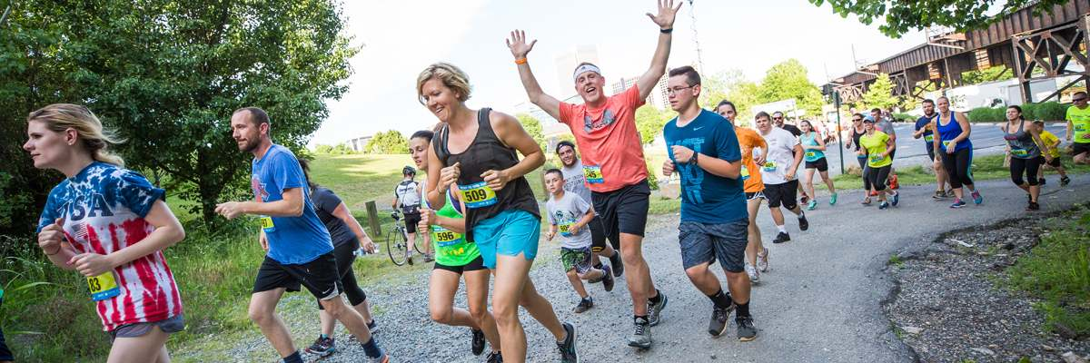 2018 Trail Running Events at Dominion Energy Riverrock Banner Image
