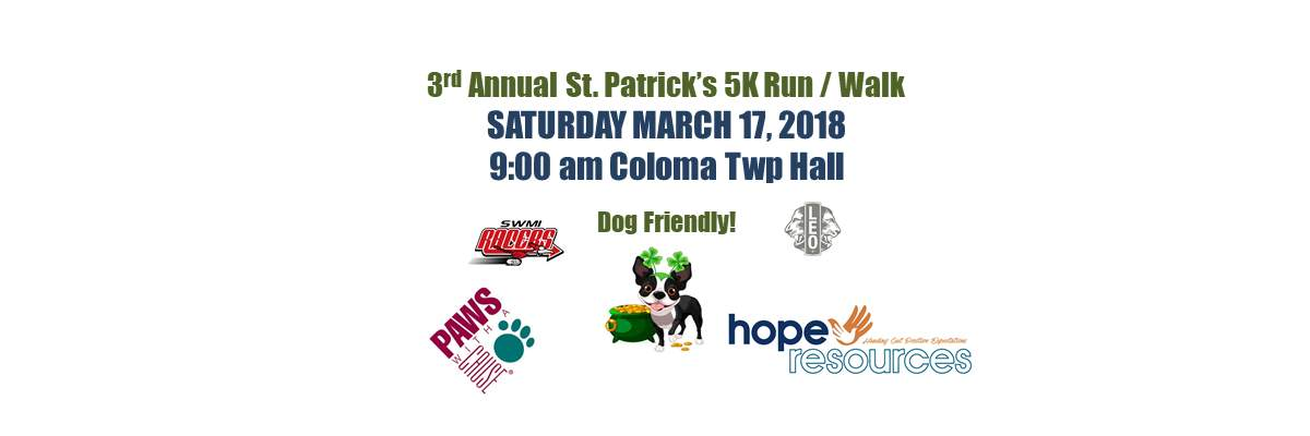 3rd Annual St. Patrick's 5K Run/Walk Banner Image