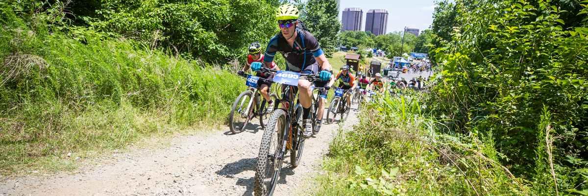 2018 Urban Assault Mountain Bike Race at Dominion Energy Riverrock Banner Image
