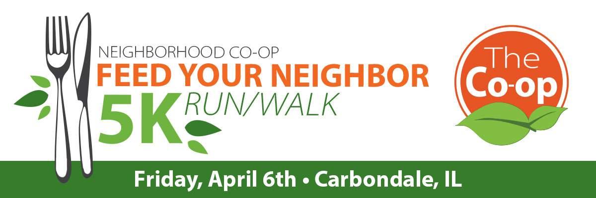 Neighborhood Co-op Feed Your Neighbor 5k Banner Image