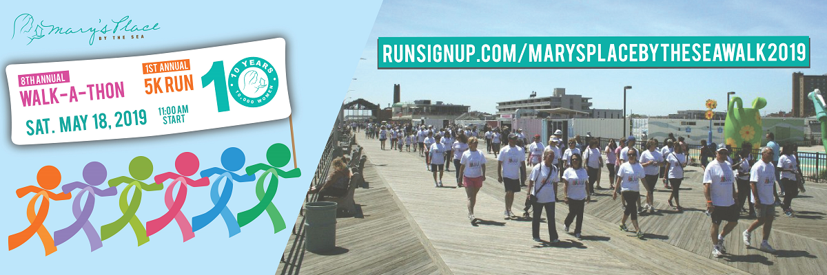 Mary's Place by the Sea Walk-A-Thon Banner Image