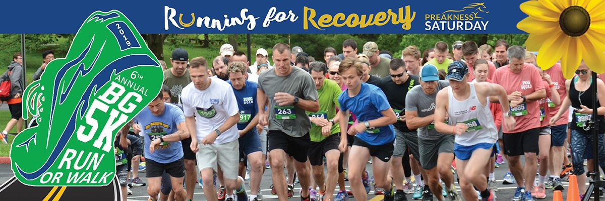 BG 5K Run/Walk - Running for Recovery in Harford County Banner Image