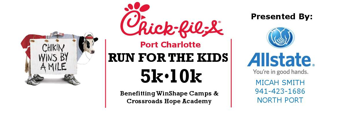Chick fil A Run For The Kids 5k 10k Banner Image