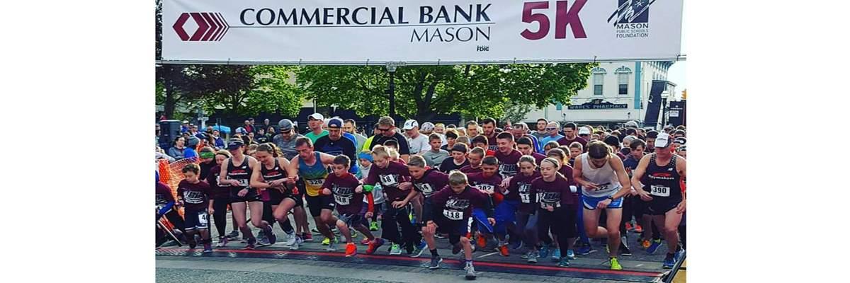 31st Annual Commercial Bank Mason 5K and Bulldog Runs Banner Image