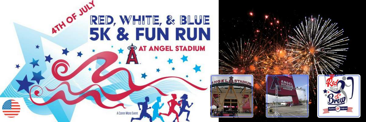4th of July Red, White, & Blue... or BREW 5K & 1 Mile Fun Run Banner Image