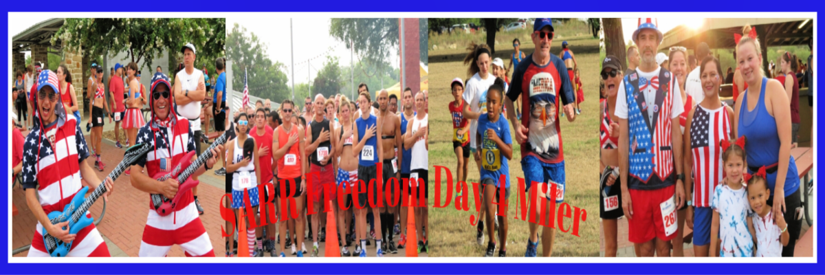 SARR Freedom Day 4-Miler, 2-Mile Fun Run/Walk, & Kids 1/2-Mile Fun Run Banner Image