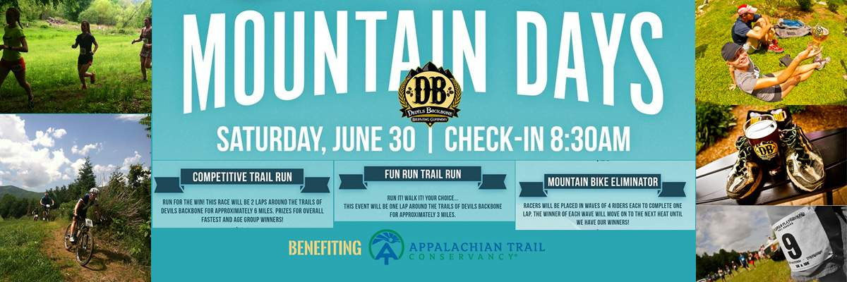 Devils Backbone Mountain Days benefiting the Appalachian Trail Conservancy Banner Image
