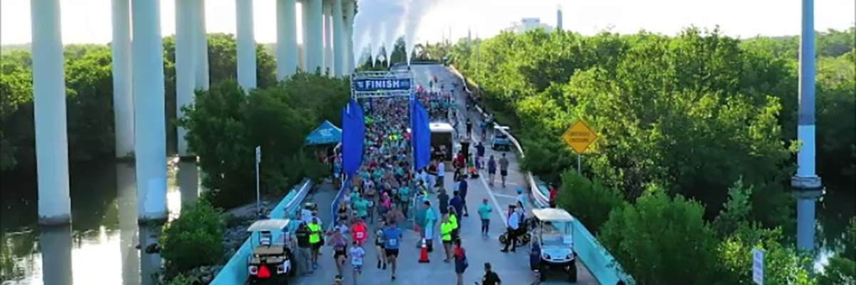 First State Bank Key Largo Bridge Run 10K/5K Run/Walk Banner Image