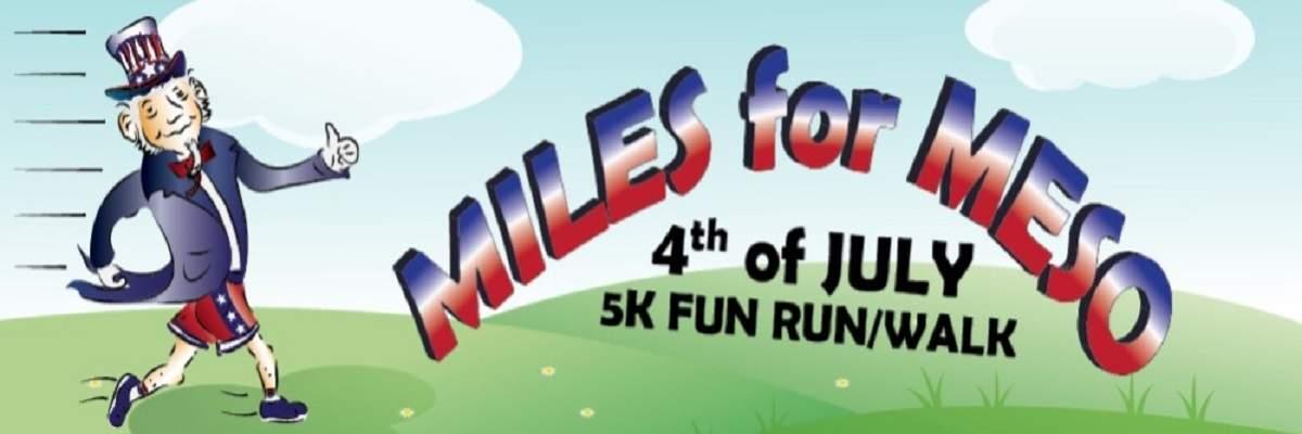 Miles for Meso 5K Run/Walk 2019 Banner Image