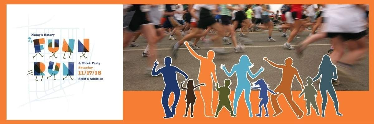 Nutzy's Rotary Funn Run and Block Party Banner Image