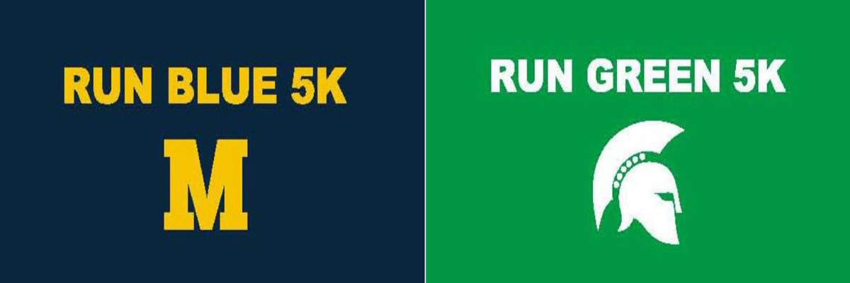 Run Blue/Run Green 5k Banner Image